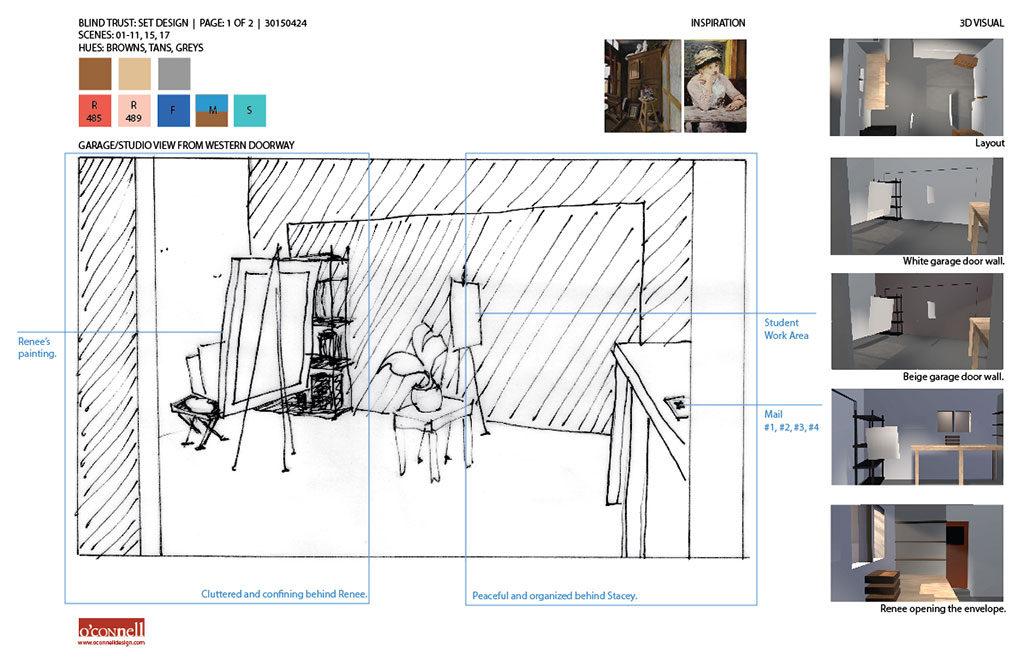 Production design studio location sketch.