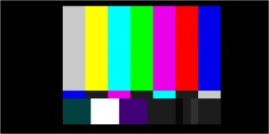 Broadcast safe color bars.