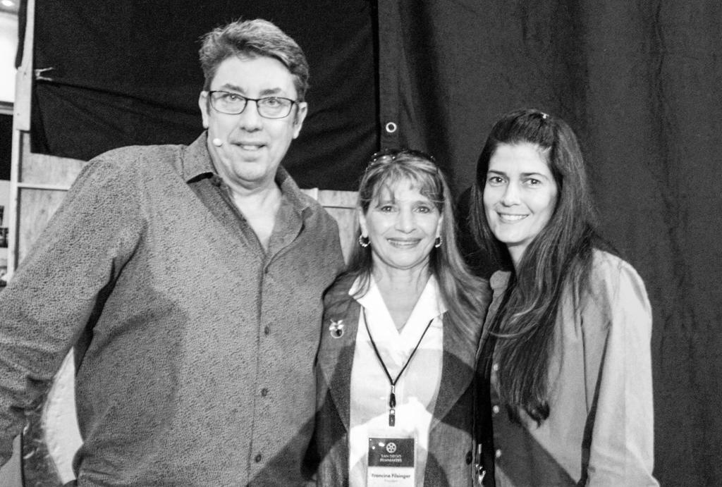 Shane Hurlbut of Hurlbut Visuals, Francine Filsinger of San Diego Filmmakers, and Lauren O'Connell of O'Connell Design.
