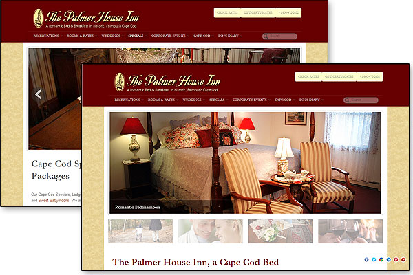 Palmer House Inn website design.