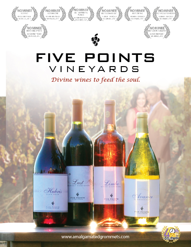 Five Points Vineyards Film Poster Design