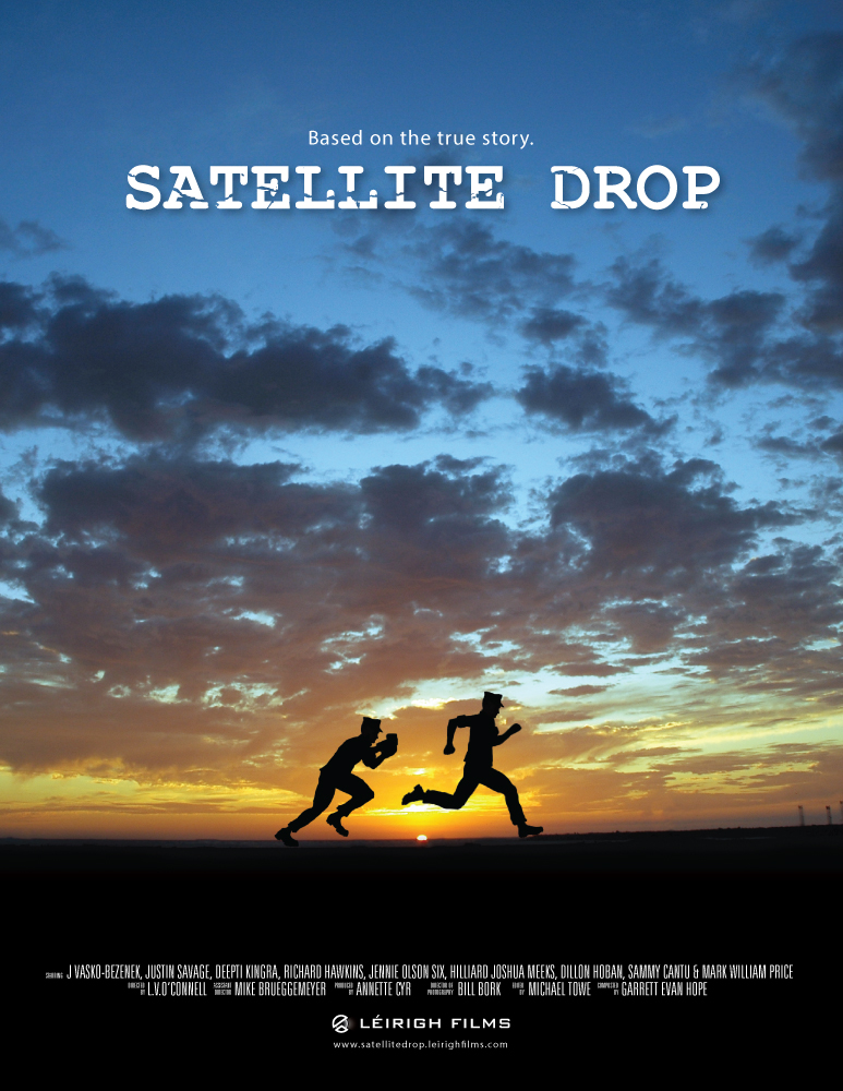 Poster design for Satellite Drop.