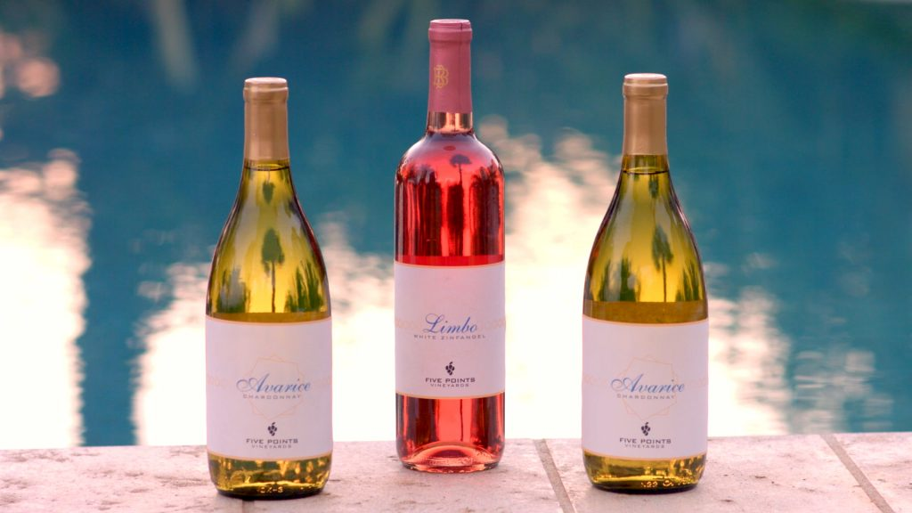 Art Director created winery labels