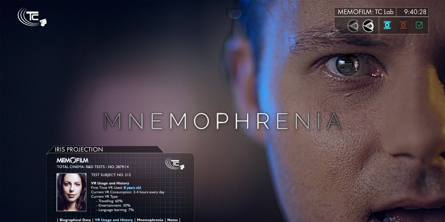 fictional user interface animation and VFX for Mnemophrenia