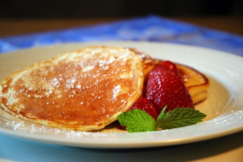Pancakes food styling