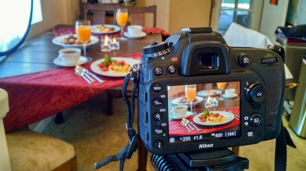 Breakfast table camera setup
