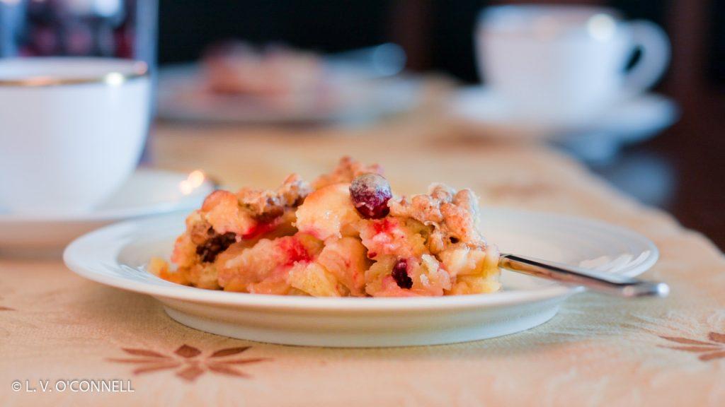 Pilgrim Pie desert on a table