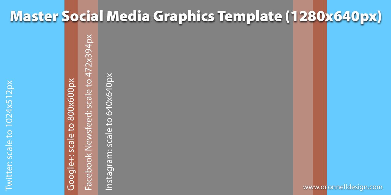 Social media master template for film promotion