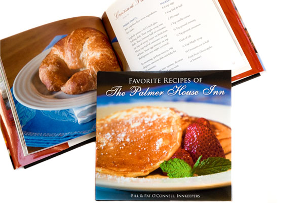Recipe book design: Favorite Recipes of the Palmer House Inn.