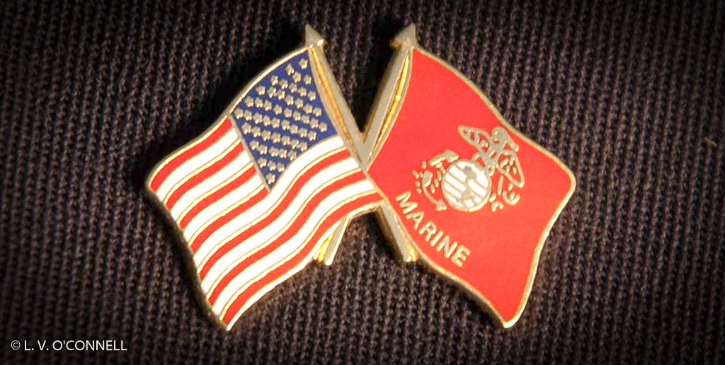 US & USMC Flag Pin