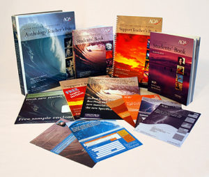 AQA English textbooks and promotional materials.