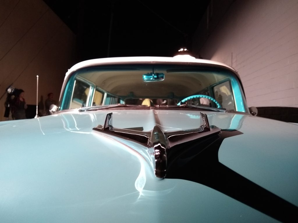 Vintage car for 1950s period drama.