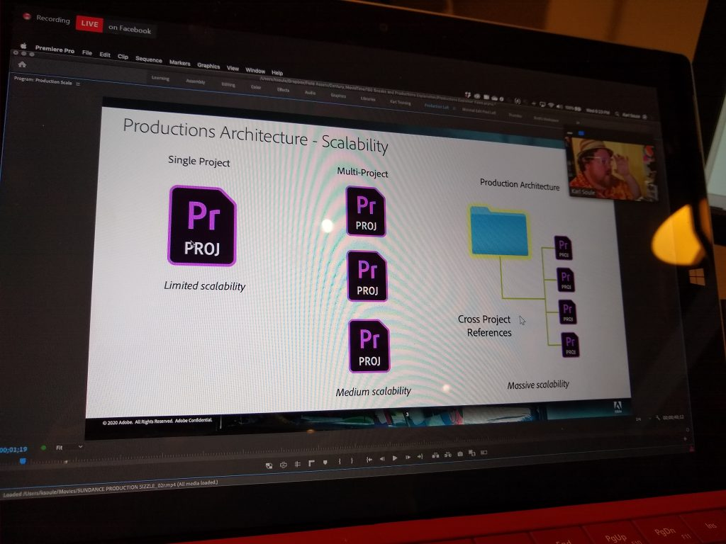 PremierePro Productions Architecture - Scalability
